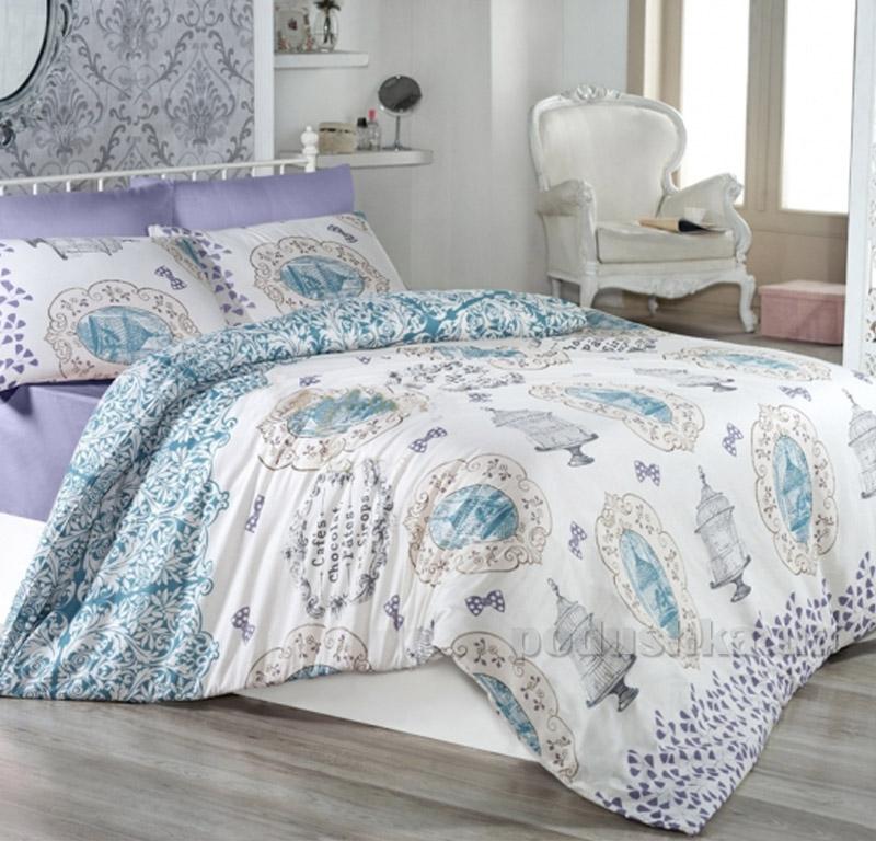 Постельное белье Nazenin Sydney ранфорс винтаж лиловый