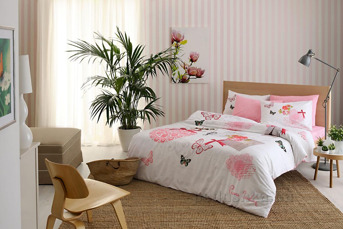 Постельное белье Pierre Cardin Elodie V01 розовое