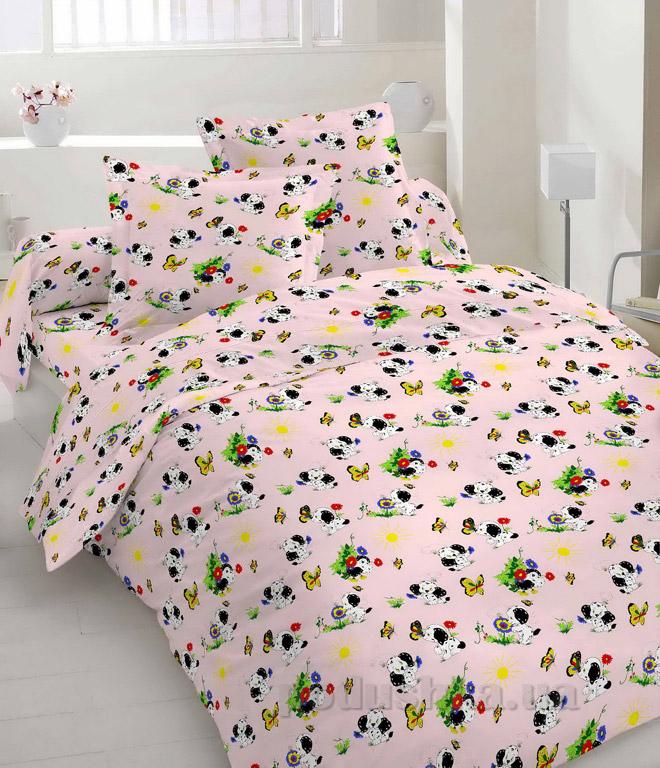 Постельное белье Руно бязь Розовые собачки