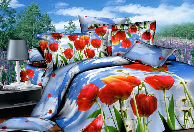 Постельное белье Руно 3D Тюльпаны
