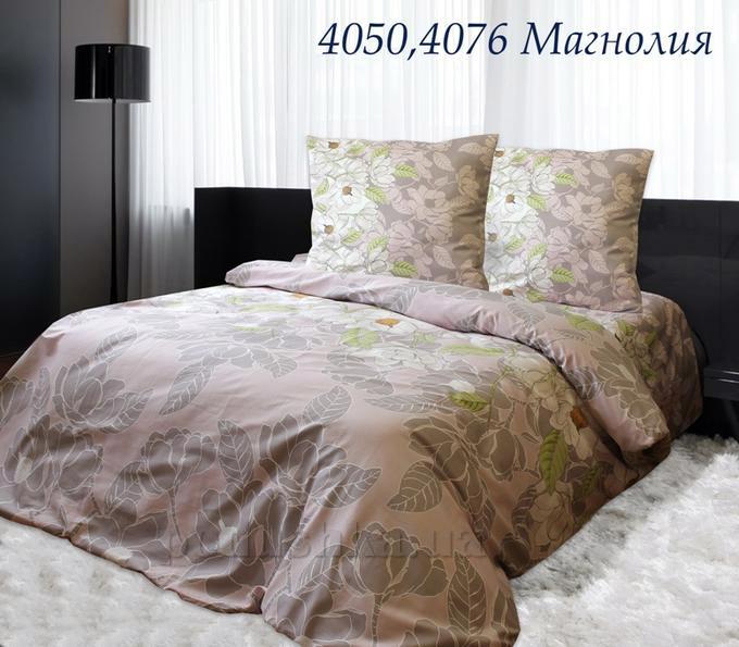 Постельное белье Руно бязь-120 4050 Магнолия Двуспальный евро комплект  Руно