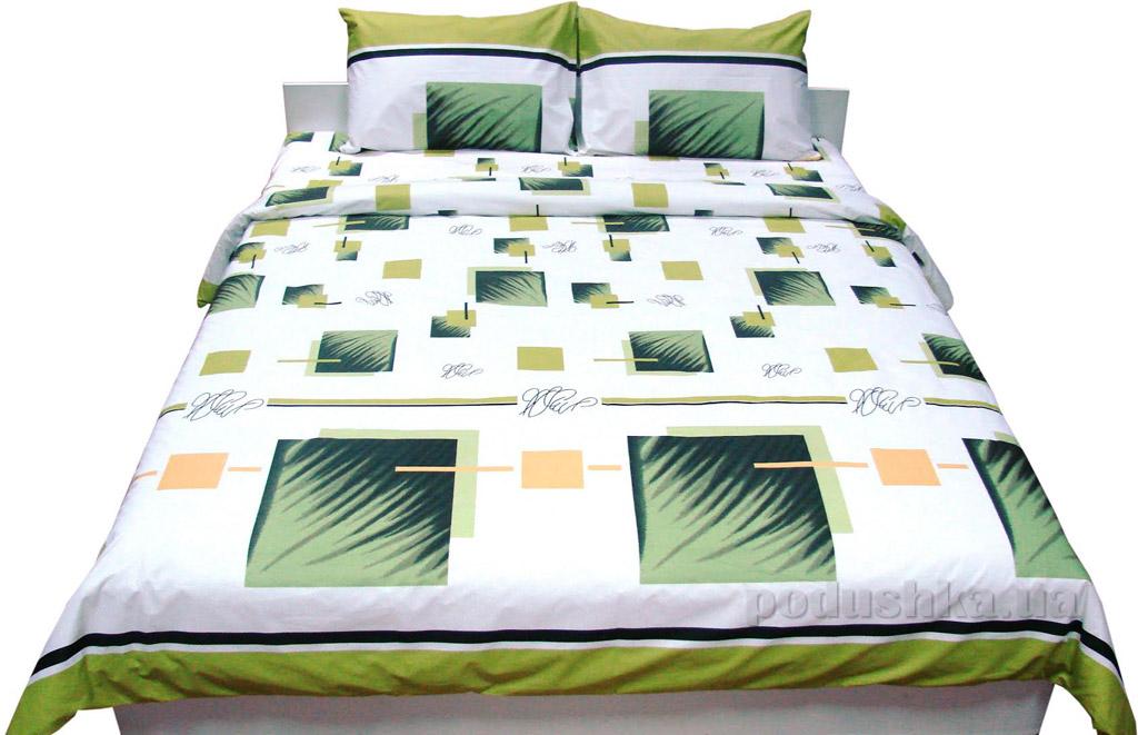 Постельное белье Руно бязь 30-0113 green Семейный комплект с увеличенной простыней Руно