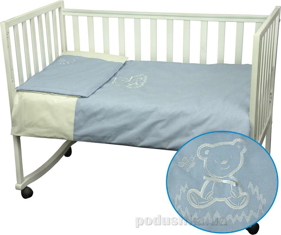 Постельное белье Руно Мишка голубое Детский комплект  Руно
