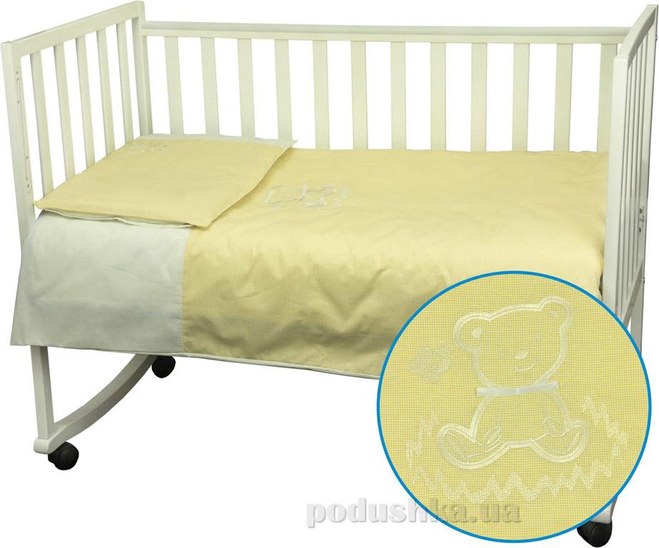 Постельное белье Руно Мишка желтое Детский комплект  Руно
