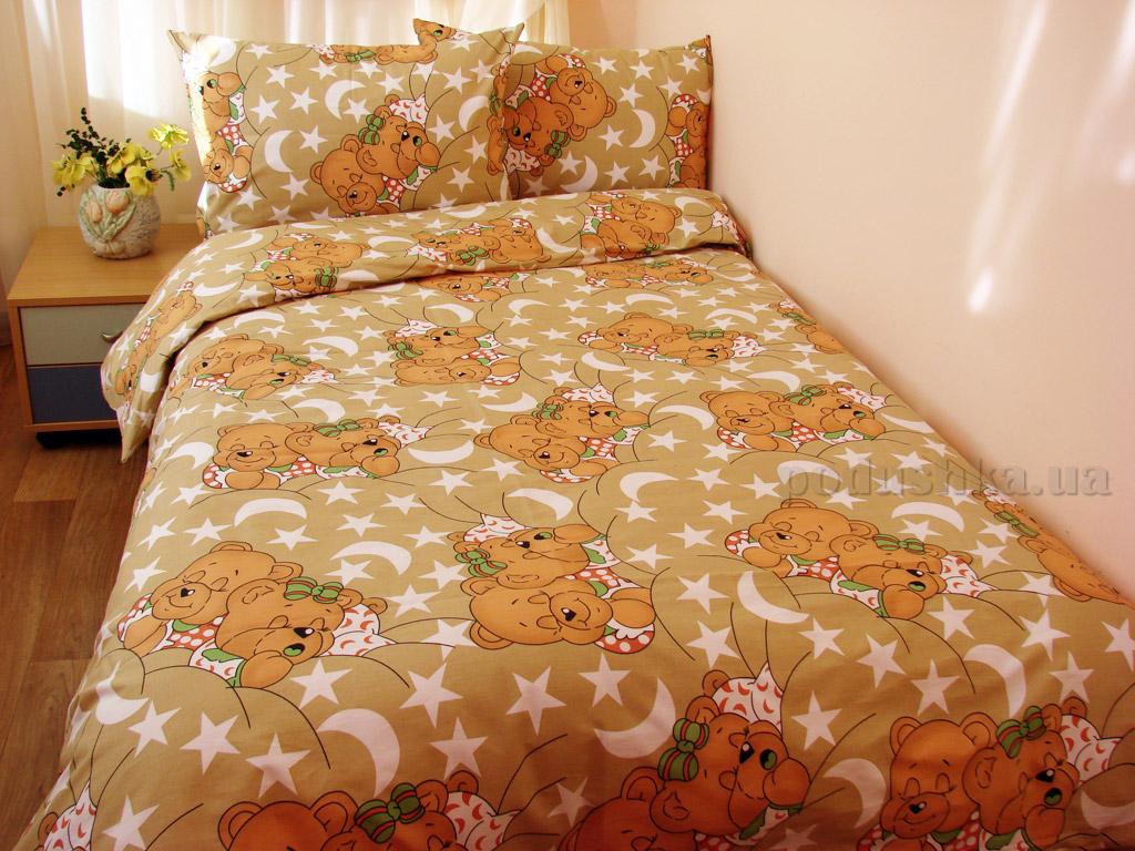Постельное белье Руно Мишки спят хаки