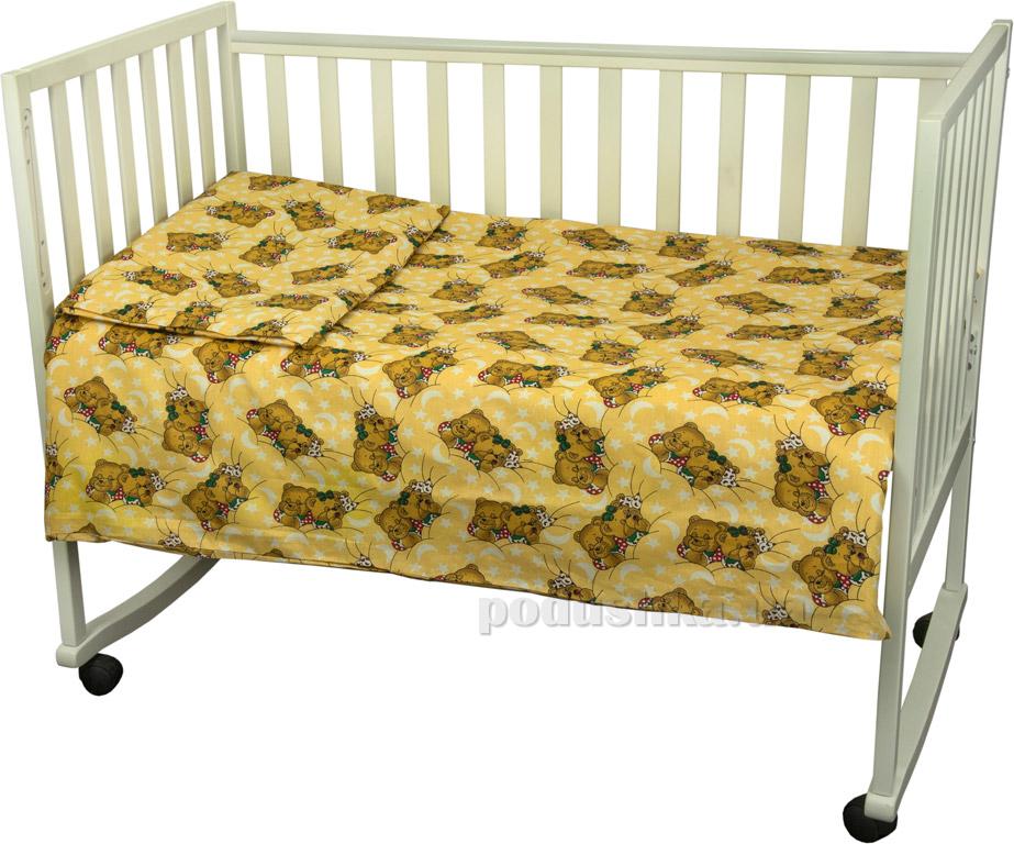 Постельное белье Руно Мишки спят желтое