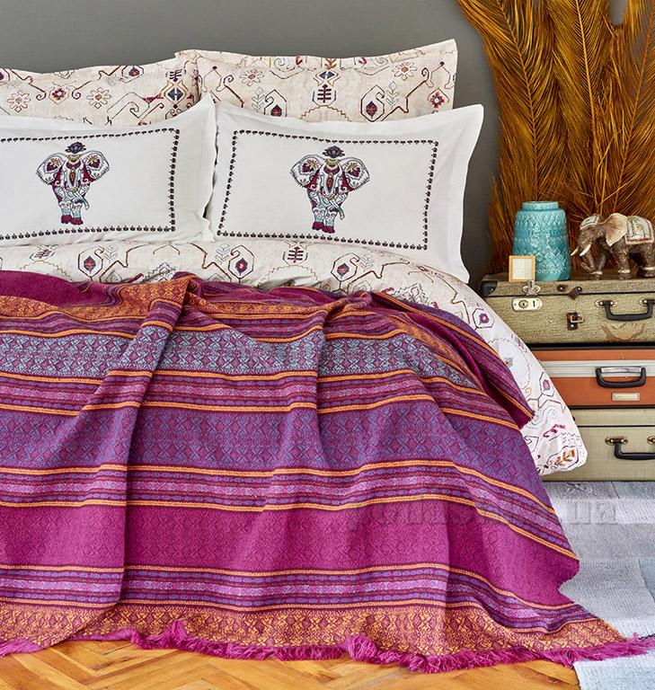 Постельное белье с пледом Karaca Maresa