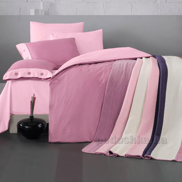 Постельное белье с пледом Luoca Patisca Juliet пудра-розовое