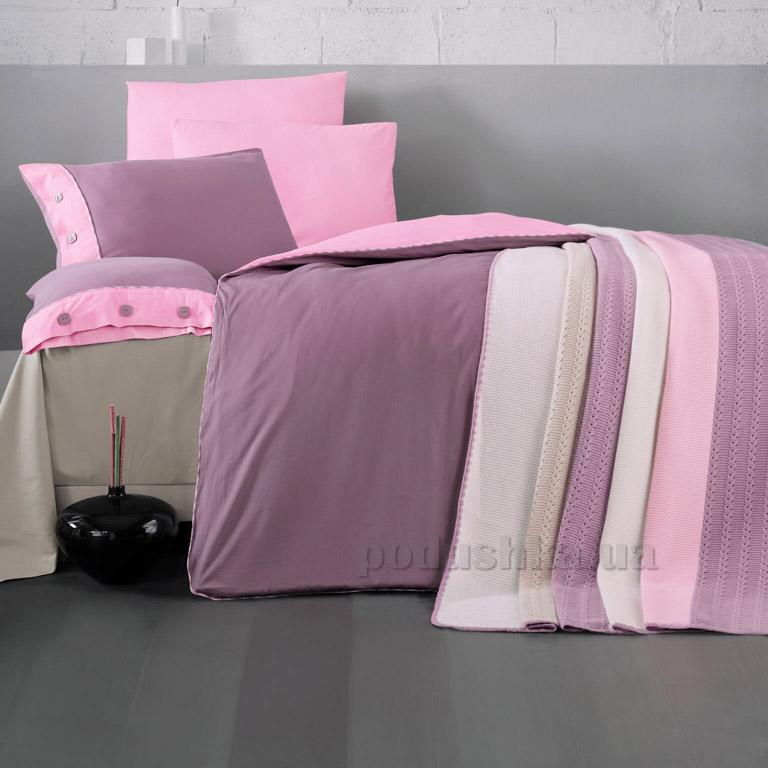 Постельное белье с пледом Luoca Patisca Juliet сиренево-розовое