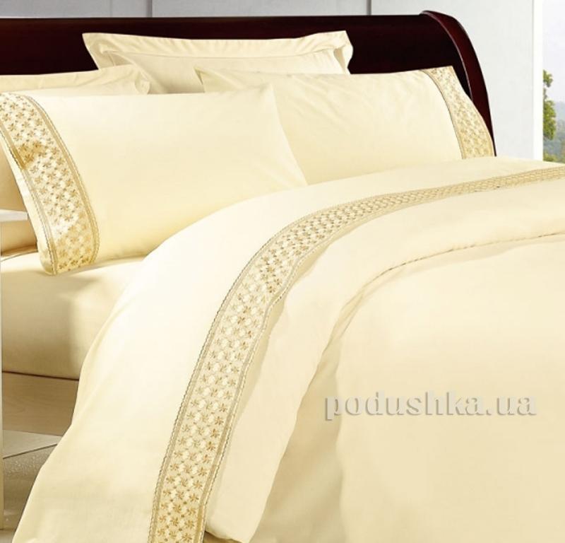 Постельное белье сатин с кружевом Bella Donna 0011
