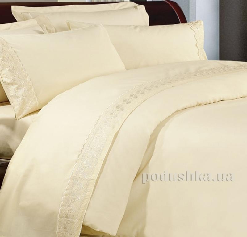 Постельное белье сатин с кружевом Bella Donna 0017
