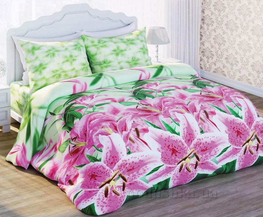 Постельное белье Сладкий сон 3D Лилея Двуспальный комплект  Сладкий Сон