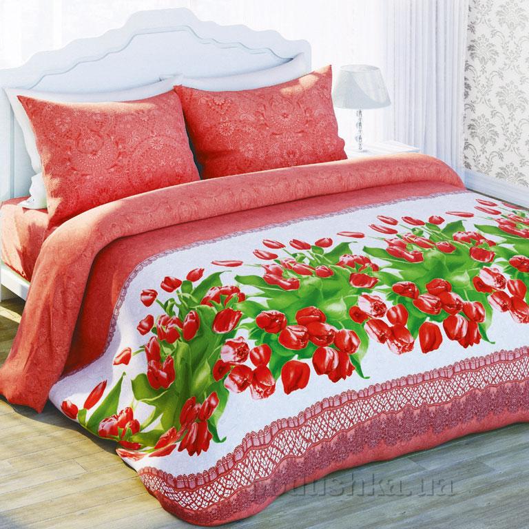 Постельное белье Сладкий сон Красные тюльпаны