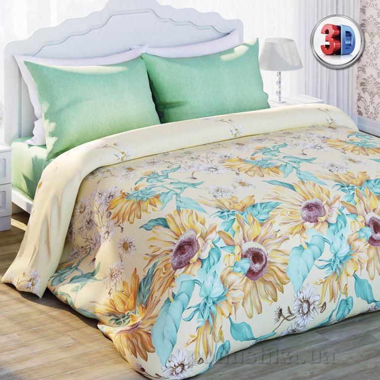 Постельное белье Сладкий сон Подсолнухи Двуспальный евро комплект  Сладкий Сон