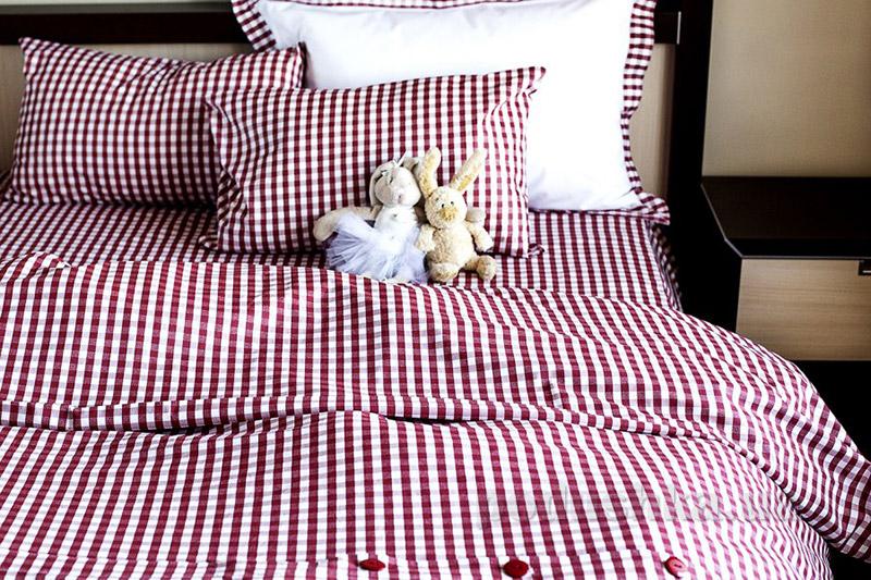 Постельное белье Sleeper Set Red Plaid поплин