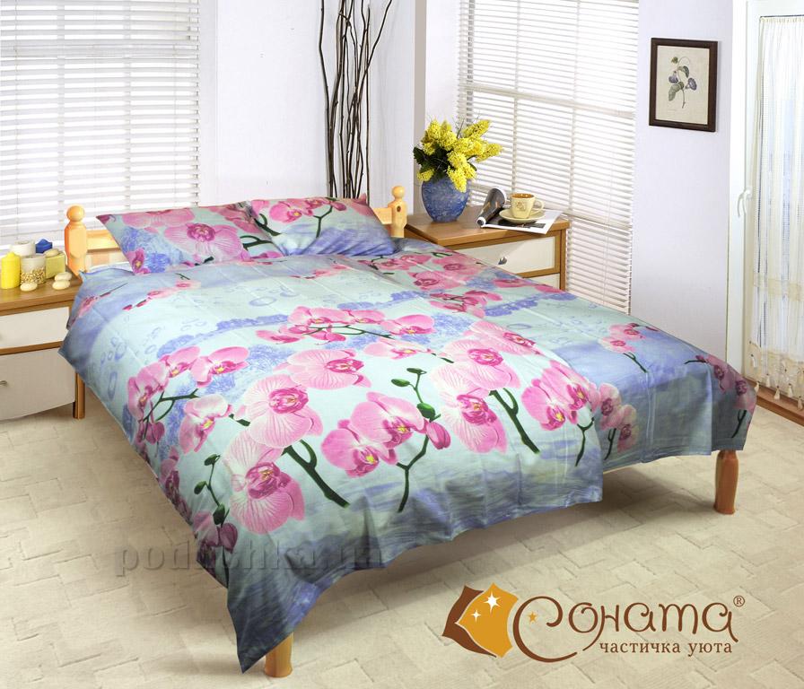 Постельное белье СОНАТА Орхидея бязь Семейный комплект  Соната