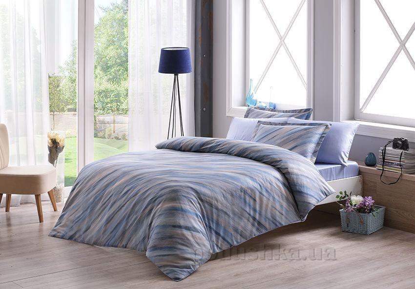 Постельное белье TAC Digital Ronny V01 голубое