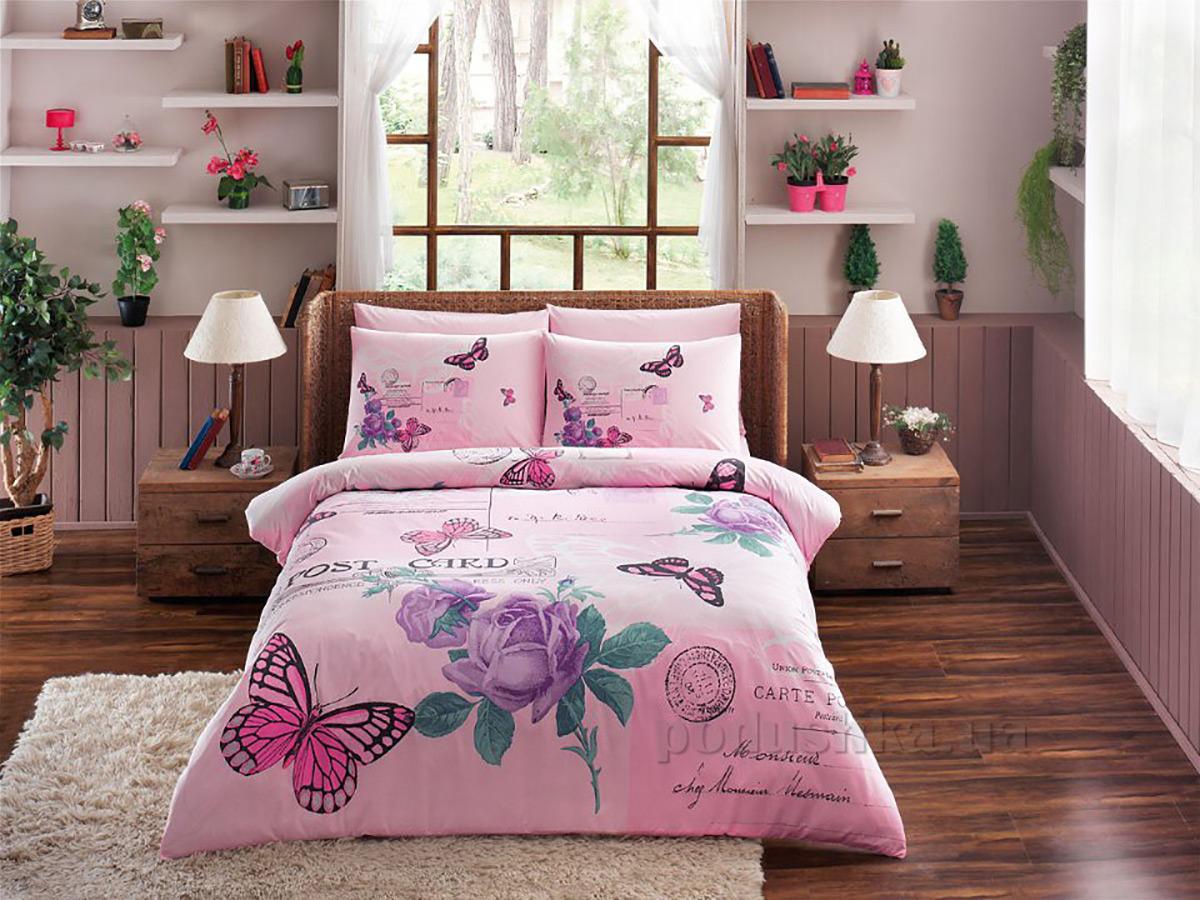 Постельное белье TAC Nina V03 розовое