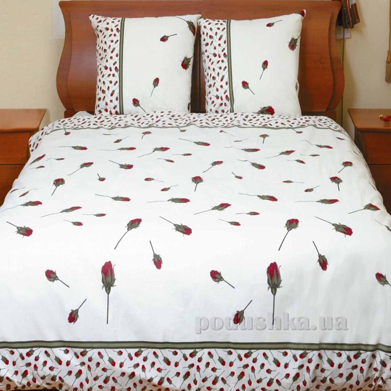 Постельное белье ТЕП Колорит Premium collection Бутон розы красной 516