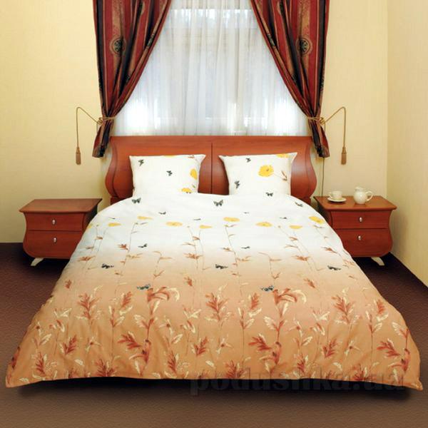 Постельное белье ТЕП Колорит Premium collection Маки коричневые с бабочками 534