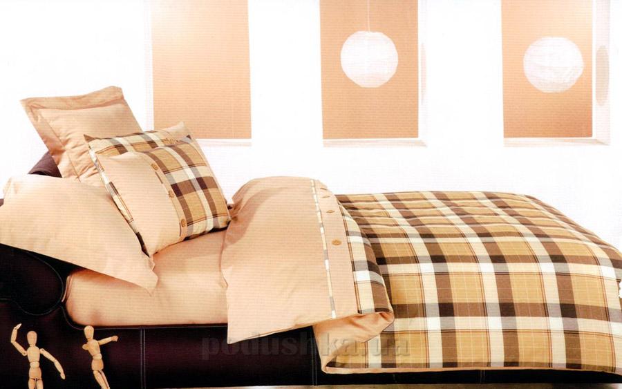 Постельное белье ТЕП Колорит Premium collection Шотландка коричневая 733