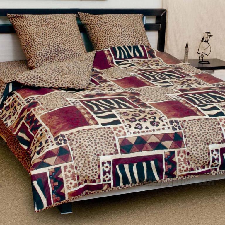 Постельное белье ТЕП Колорит Premium collection Зебра 508 Двуспальный евро комплект  ТЕП
