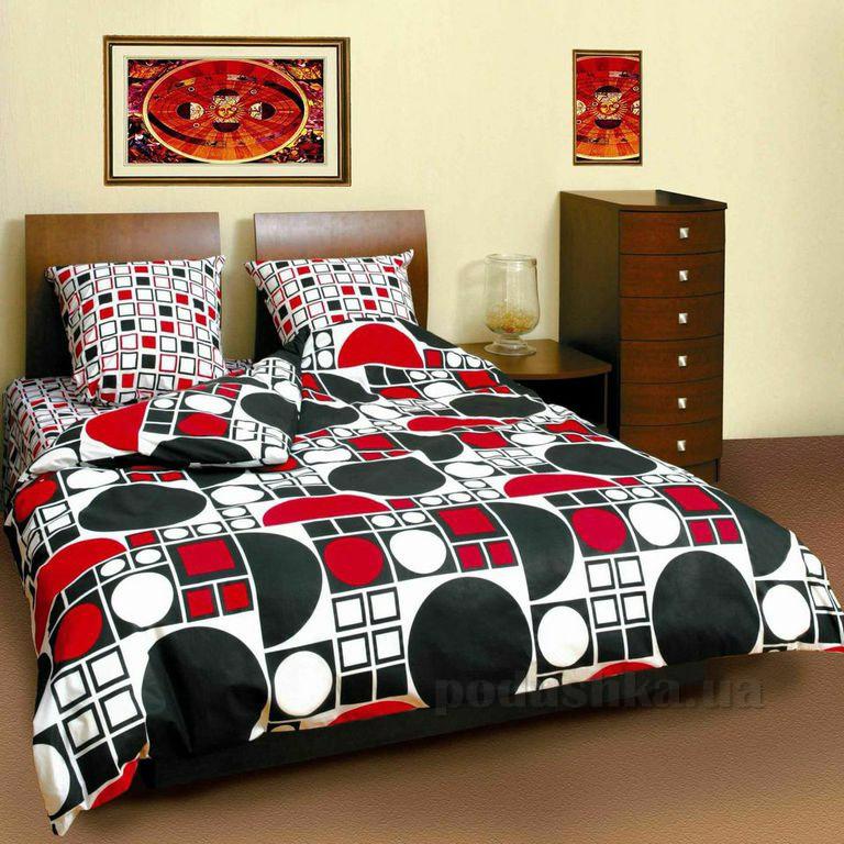Постельное белье ТЕП Круг черно-красный 531