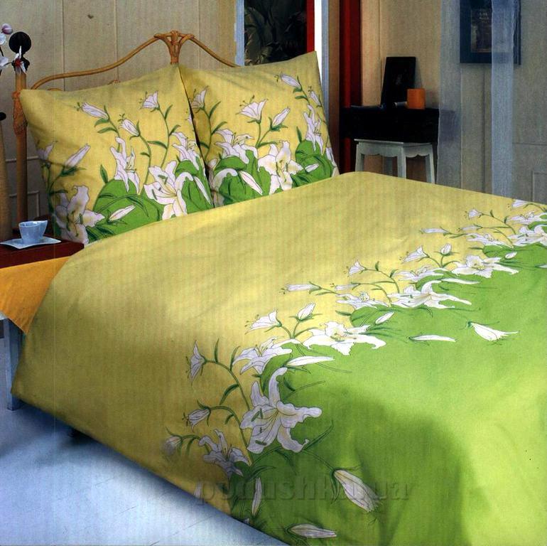 Постельное белье ТЕП Лилия зелёная 658 Полуторный комплект  ТЕП