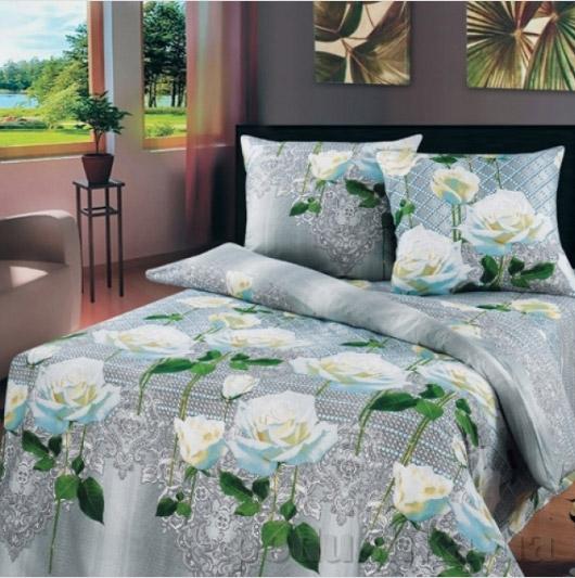 Постельное белье Top Dreams Белые розы Полуторный комплект  TOP Dreams