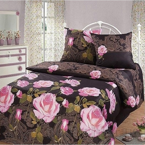 Постельное белье Top Dreams Ночная роза Двуспальный евро комплект  TOP Dreams