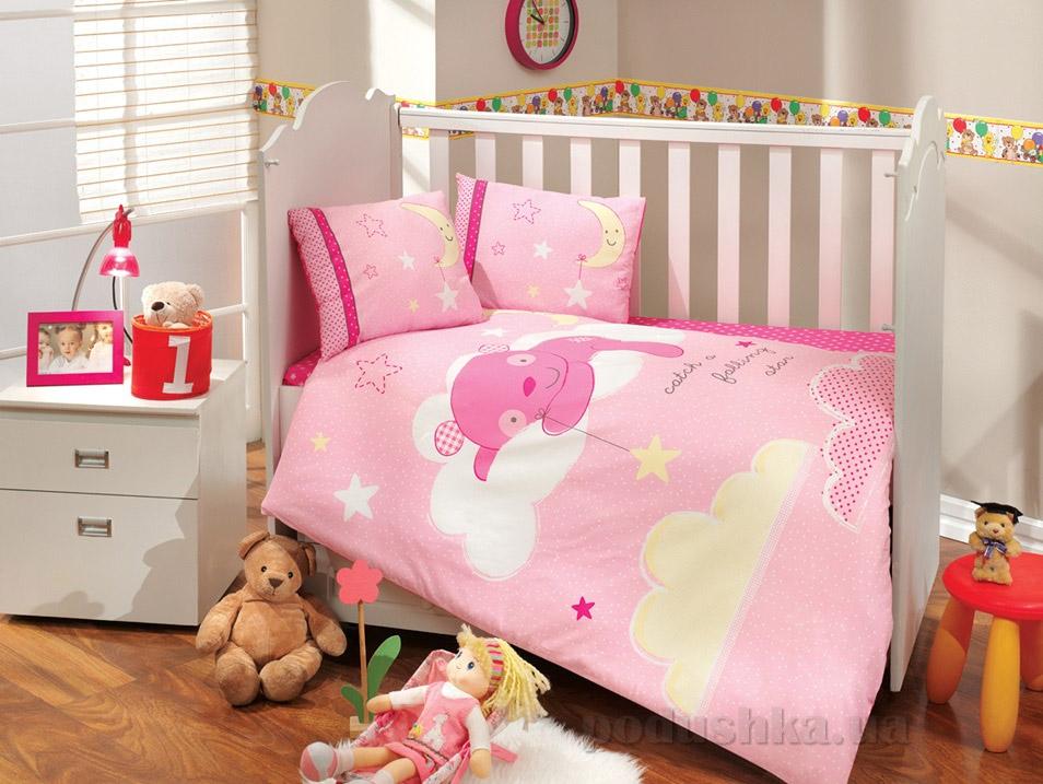 Постельное белье в кроватку Hobby Sateen Sleeper розовое