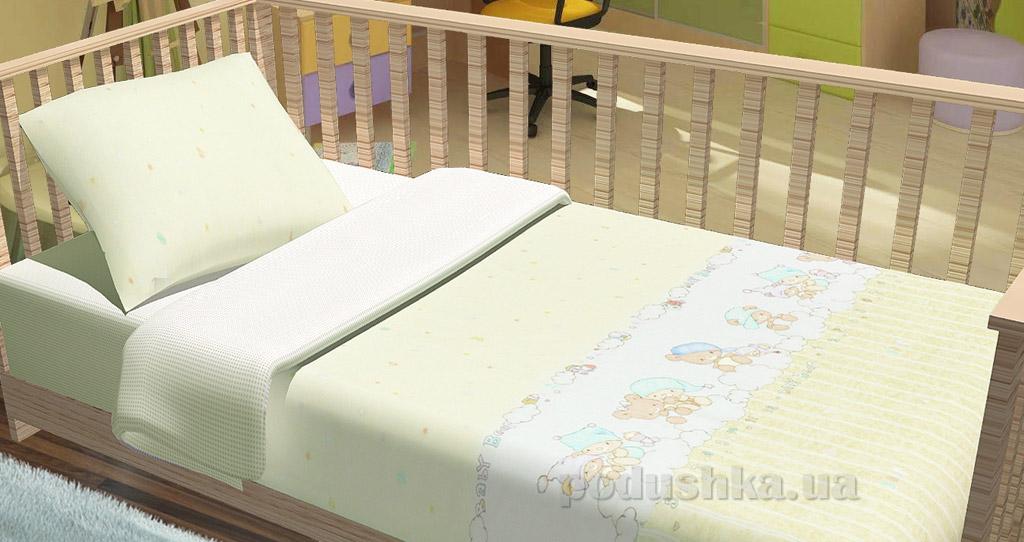 Постельное белье в кроватку KidsDreams Baby bear бежевое