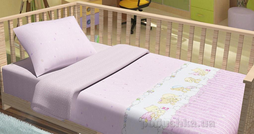 Постельное белье в кроватку KidsDreams Baby bear розовое