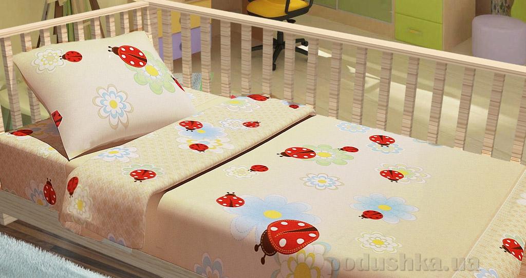 Постельное белье в кроватку KidsDreams Божьи коровки