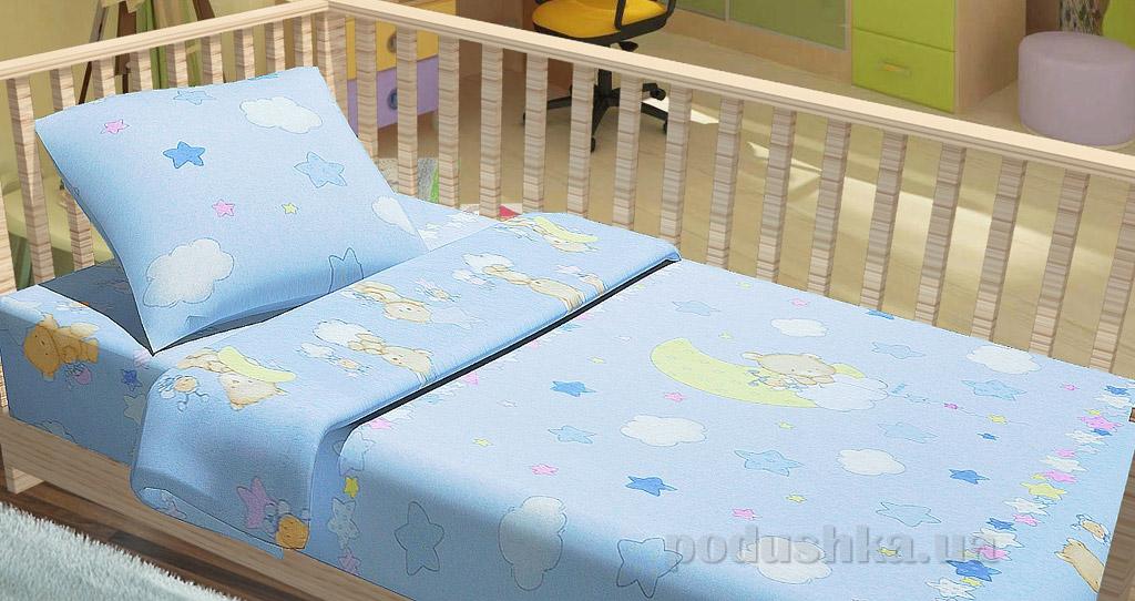 Постельное белье в кроватку KidsDreams Мишки на луне
