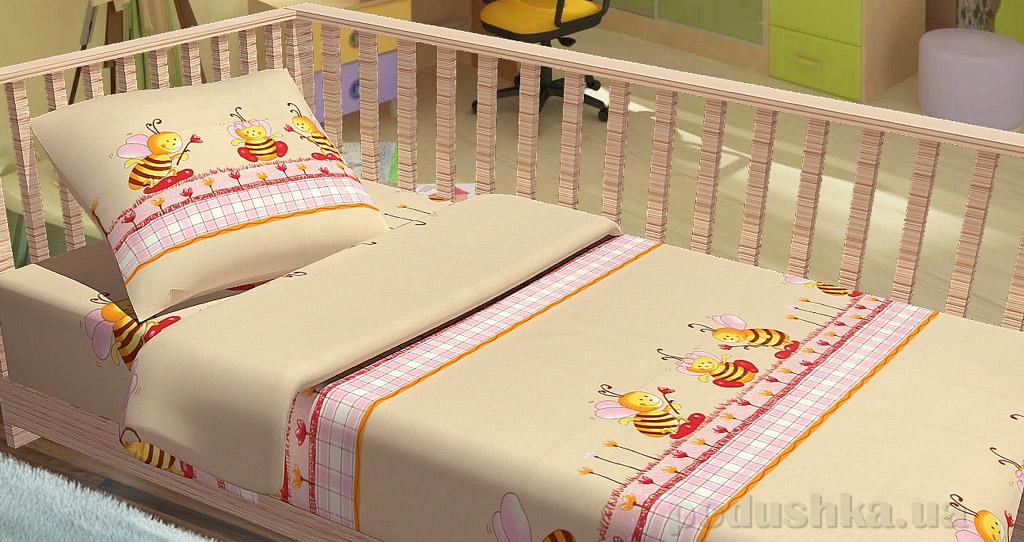 Постельное белье в кроватку KidsDreams Пчелки