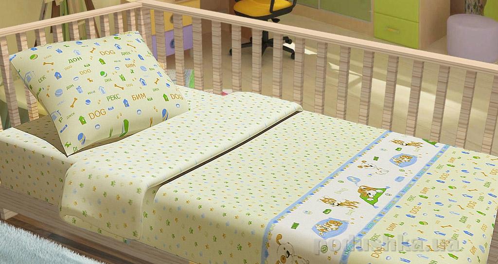 Постельное белье в кроватку KidsDreams Щеночки