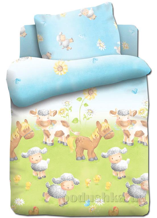 Постельное белье в кроватку Непоседа Овечки на лугу