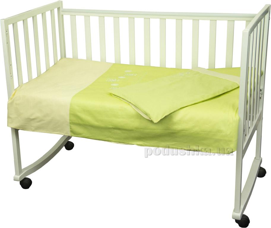 Постельное белье в кроватку Руно Люкс салатовое