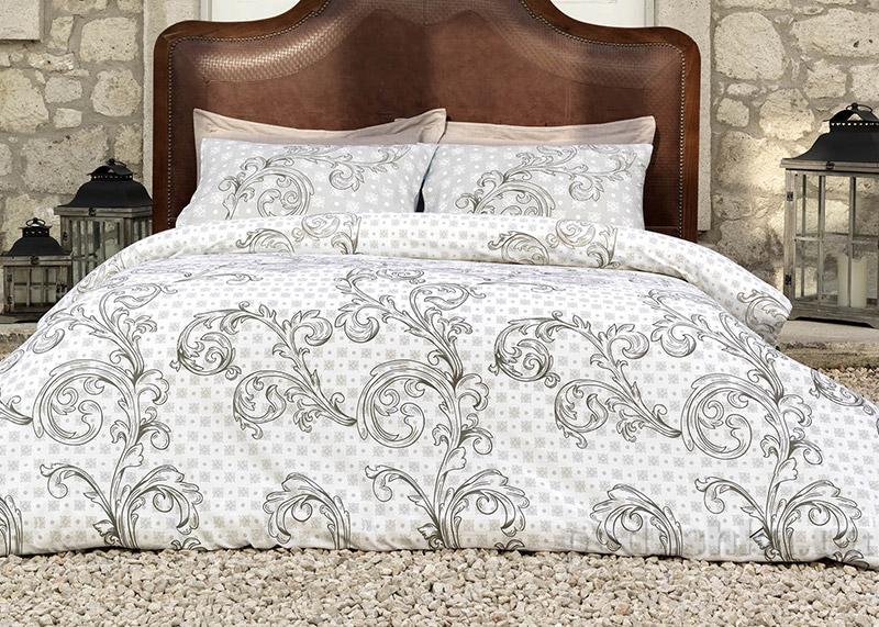 Постельное белье Victoria Flora brown 00762