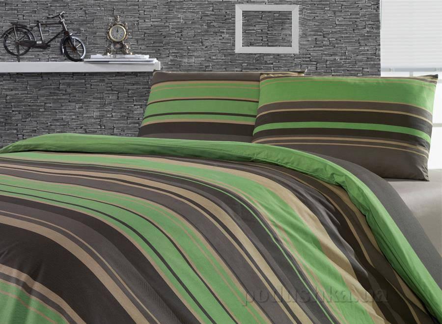 Постельное белье Weekend Green stripes