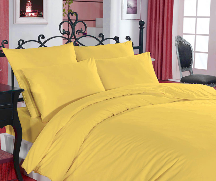 Постельное белье Zambak Ranforce Color Yellow