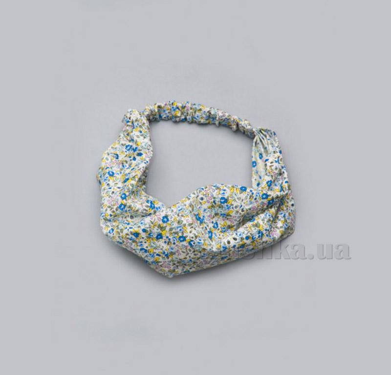 Повязка-косынка для девочек Модный карапуз 03-00499 Цветочки