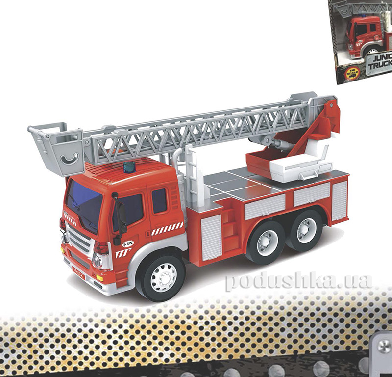 Пожарная машина Junior Trucker 28 см с лестницей со светом и звуком Dave Toy 33015