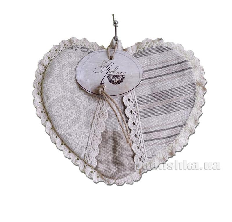 Прихватка сердце patch work Прованс 2237