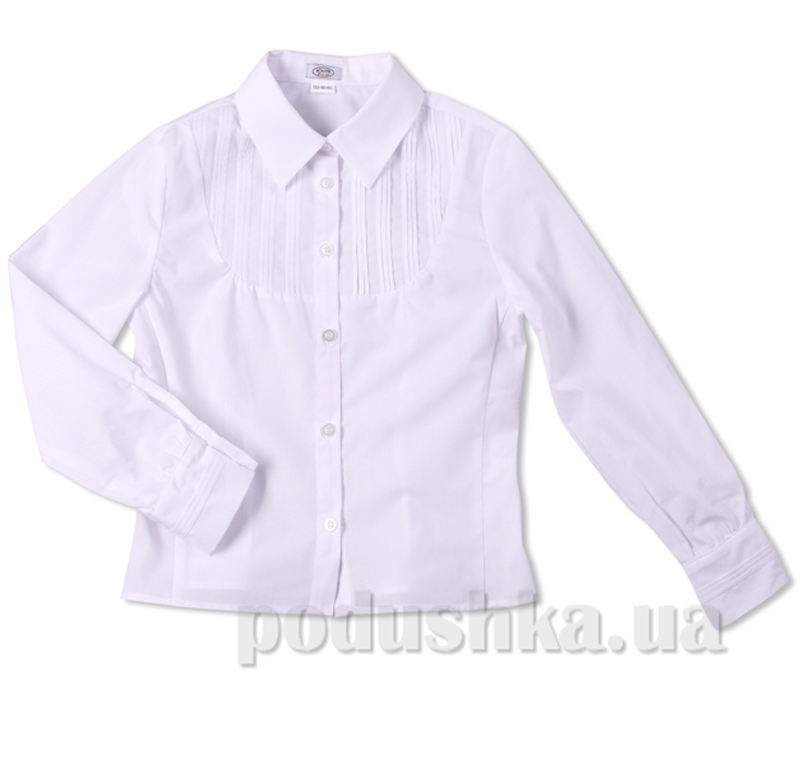 Приталенная школьная блуза Юность 247-1 белая