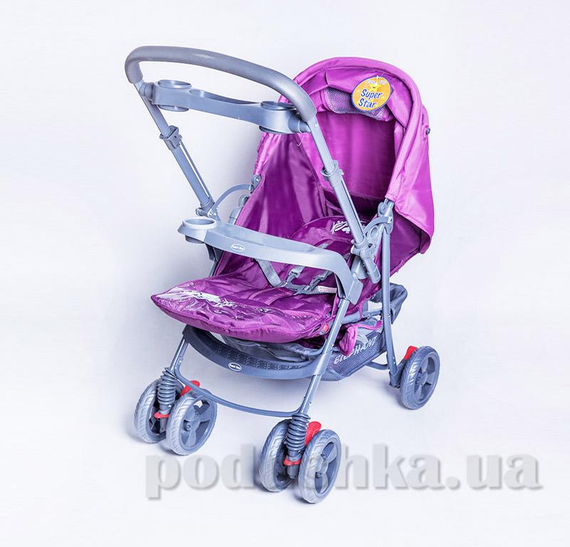 Прогулочная коляска BabyTilly BT-WS-0001 розово-фиолетовая