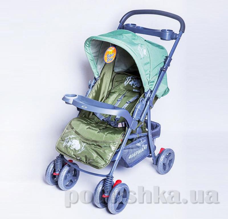 Прогулочная коляска BabyTilly BT-WS-0001 зеленая