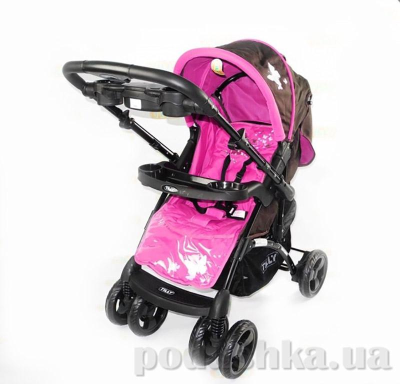 Прогулочная коляска BabyTilly BT-WS-0002 черно-розовая
