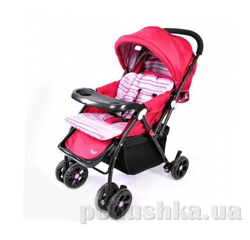Прогулочная коляска BabyTilly BT-WS-0004 черно-розовая